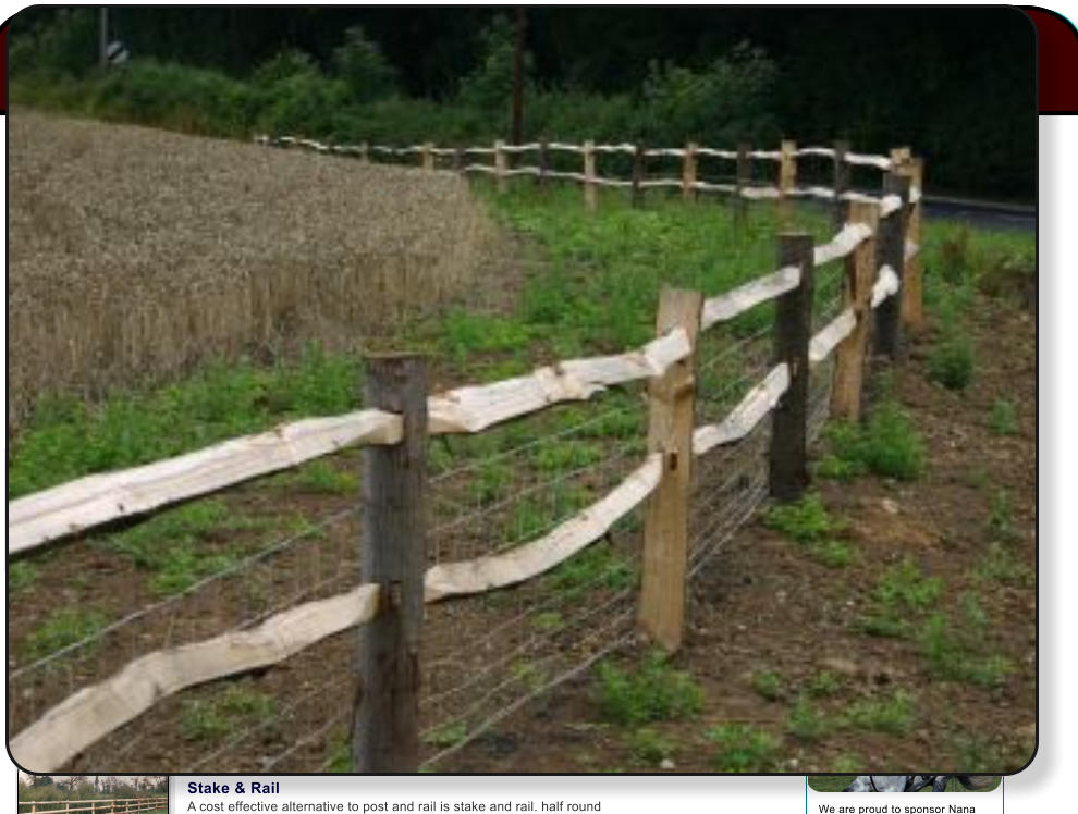 Stake Equifence Toprail A Cost Effective Alternative To Post And Rail Is Half Round Stakes Are Driven In The Ground Rails